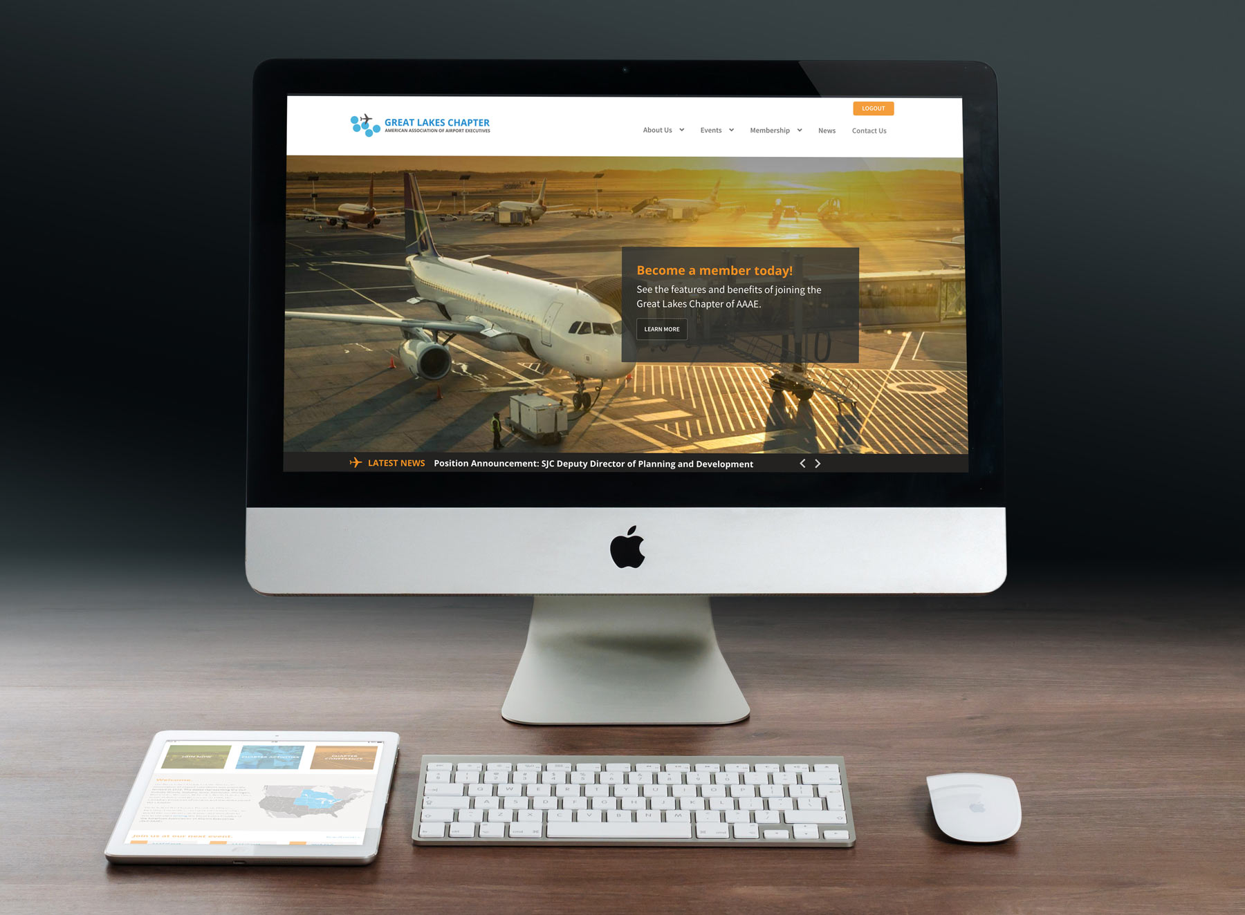 GLCAAAE website design - home page