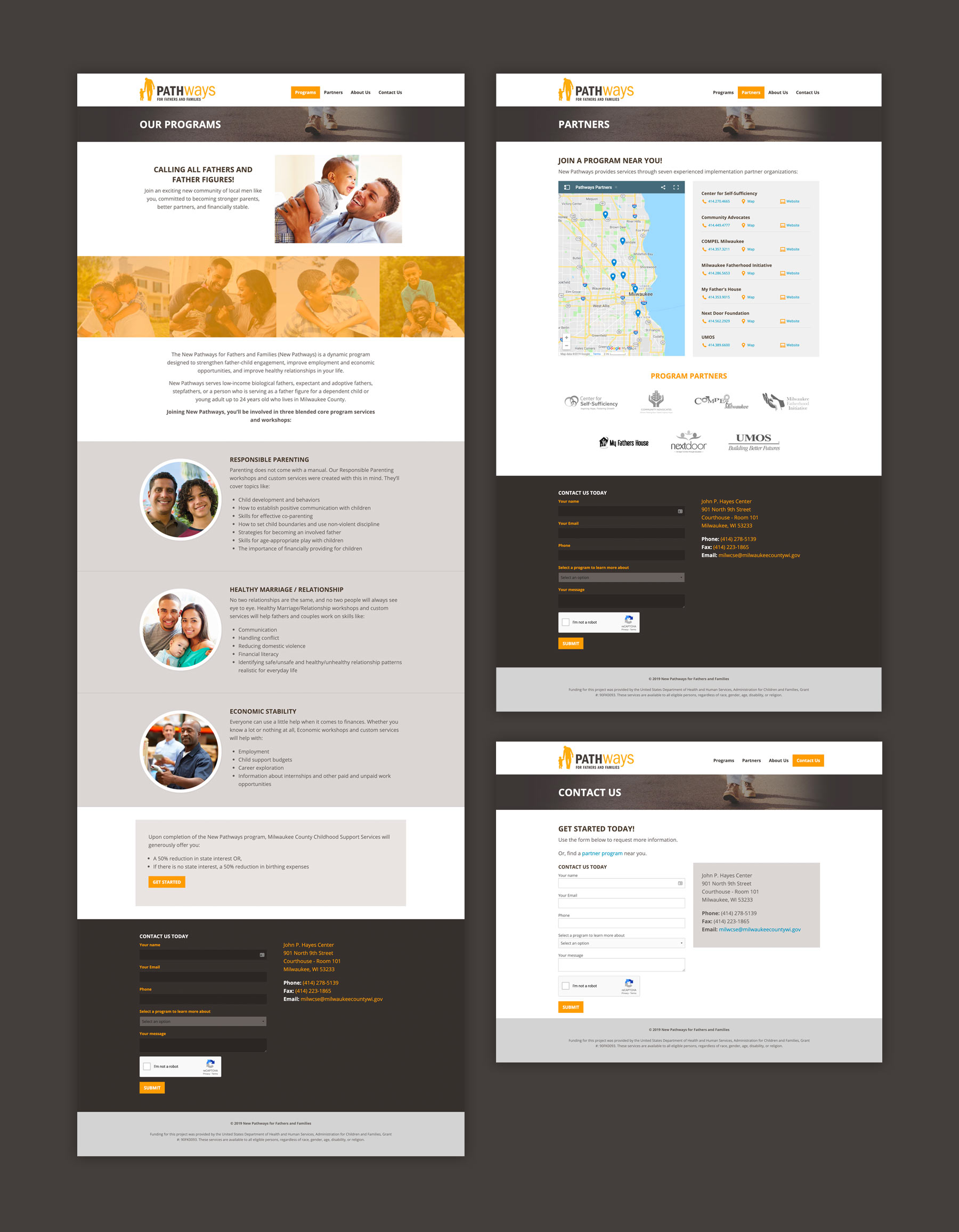 Secondary page design